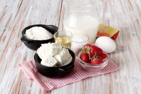 Ингредиенты для творожных оладий