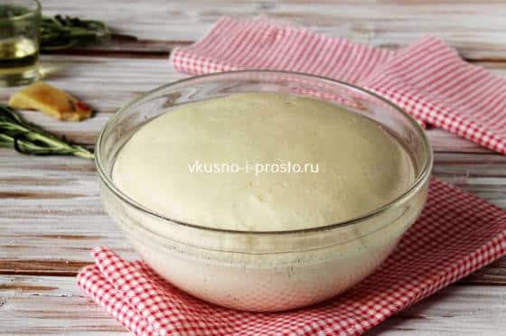 Увеличенное в объеме тесто