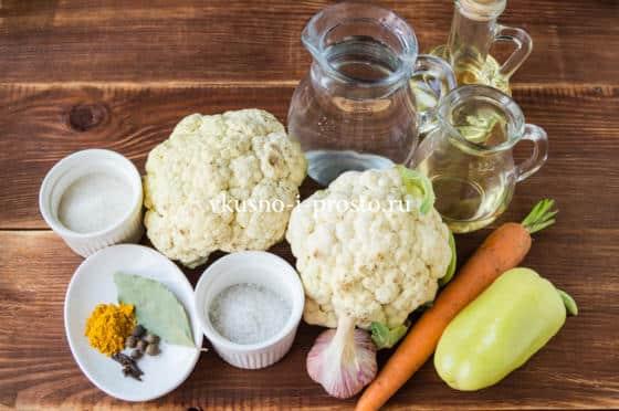 ингредиенты для капусты по-корейски
