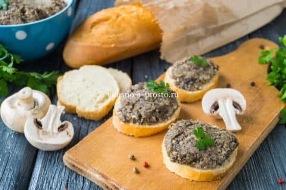 паштет из грибов и фасоли