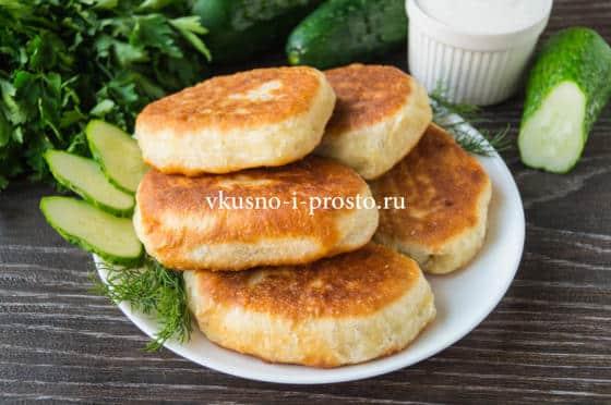 пирожки с картофелем и печенью