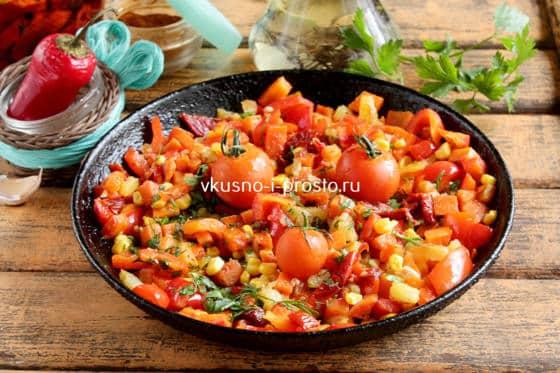 Украшаем овощную смесь