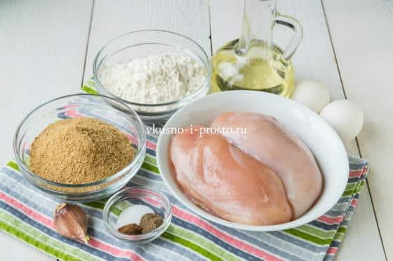 ингредиенты для шницеля