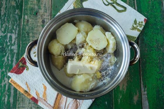 измельчаем картофель в пюре