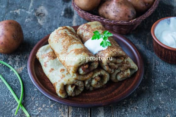 картофельные блины на кефире
