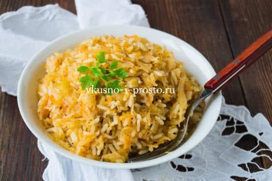 капуста тушеная с рисом