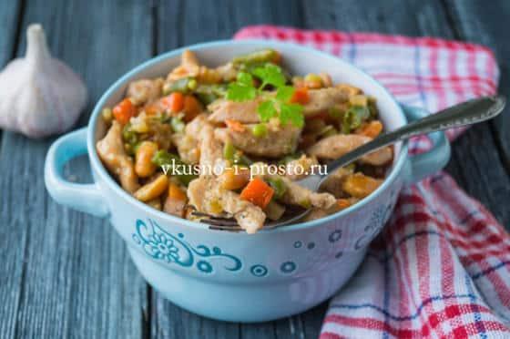 суп из замороженных овощей с курицей калорийность рецепт