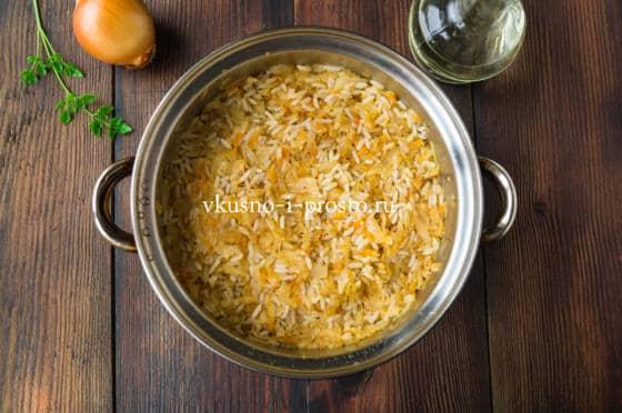 Капуста тушеная с рисом рецепт с пошагово в кастрюле
