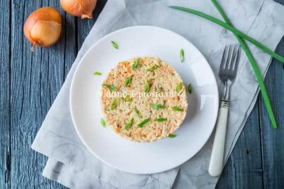 салат из сардины и риса