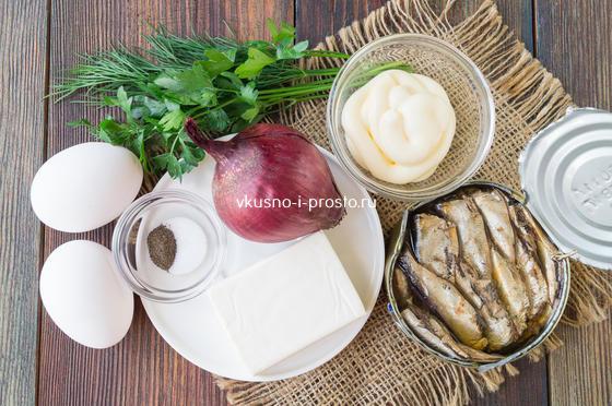 ингредиенты для паштета