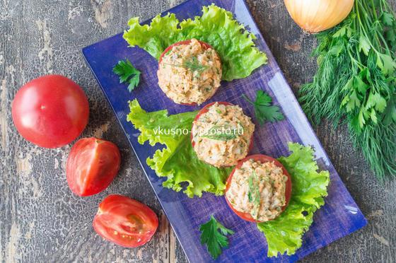 закуска из сардины с овощами
