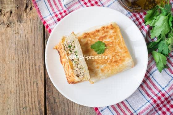 конвертики с сыром и курицей