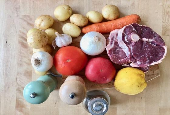 Ингредиенты для баранины с картошкой