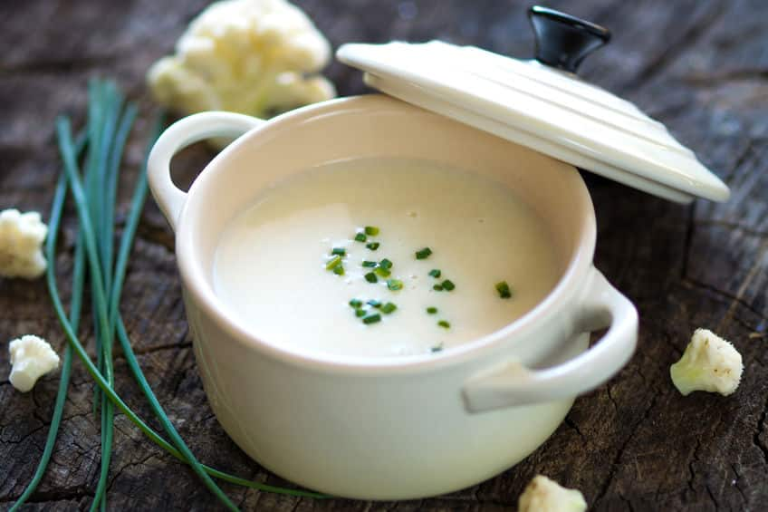 густой суп-потаж из цветной капусты