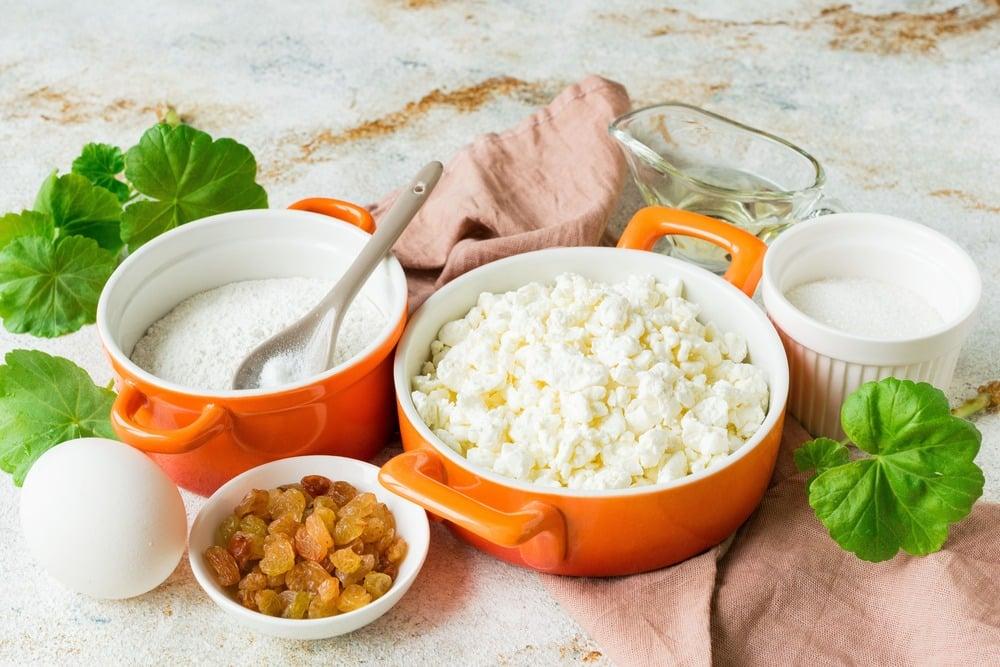 Продукты для приготовления сырников