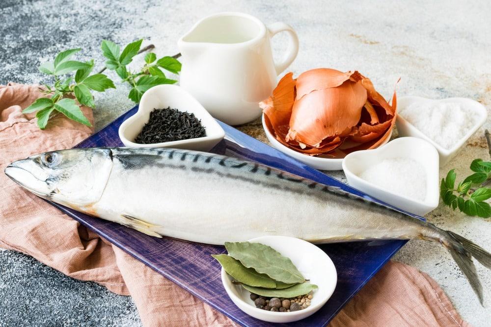Продукты для приготовления маринованной скумбрии