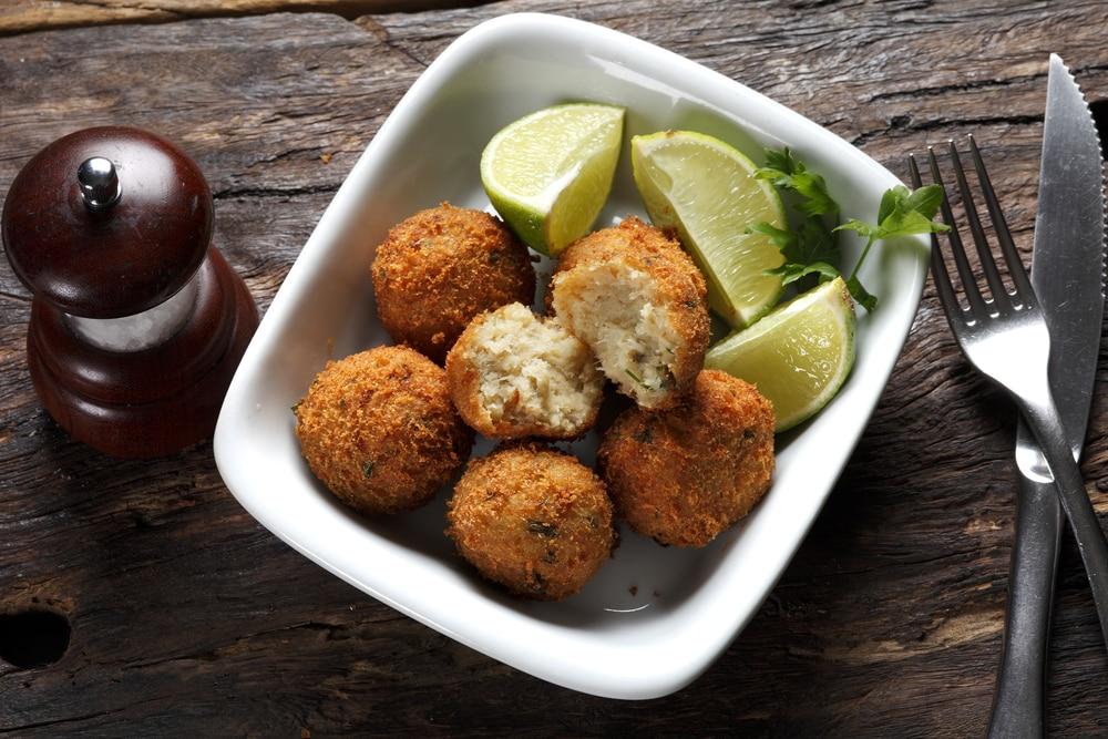 картофельные крокеты с рыбой