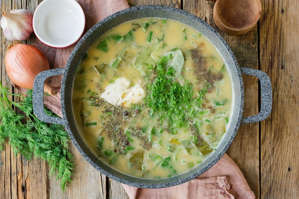 Доводим крем-суп до вкуса