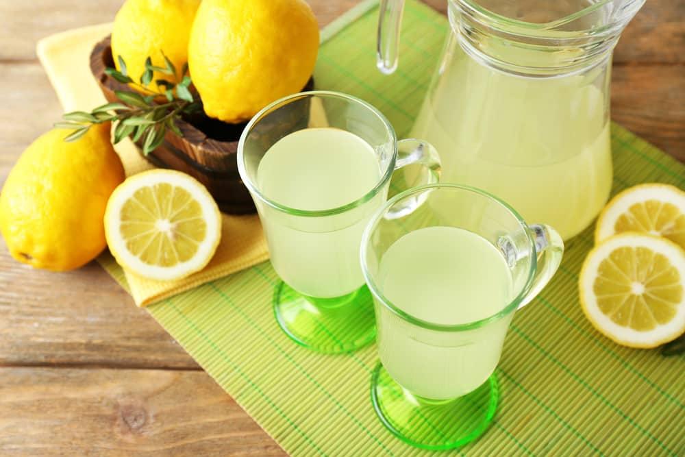 лимонный морс с базиликом