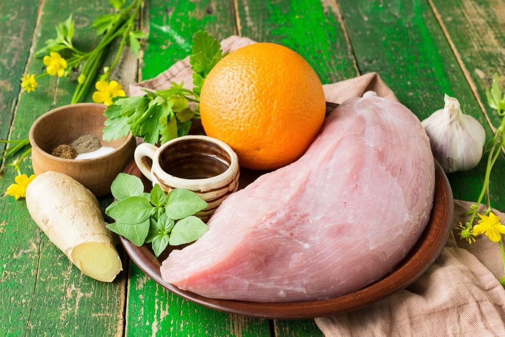 Продукты необходимые для приготовления филе индейки