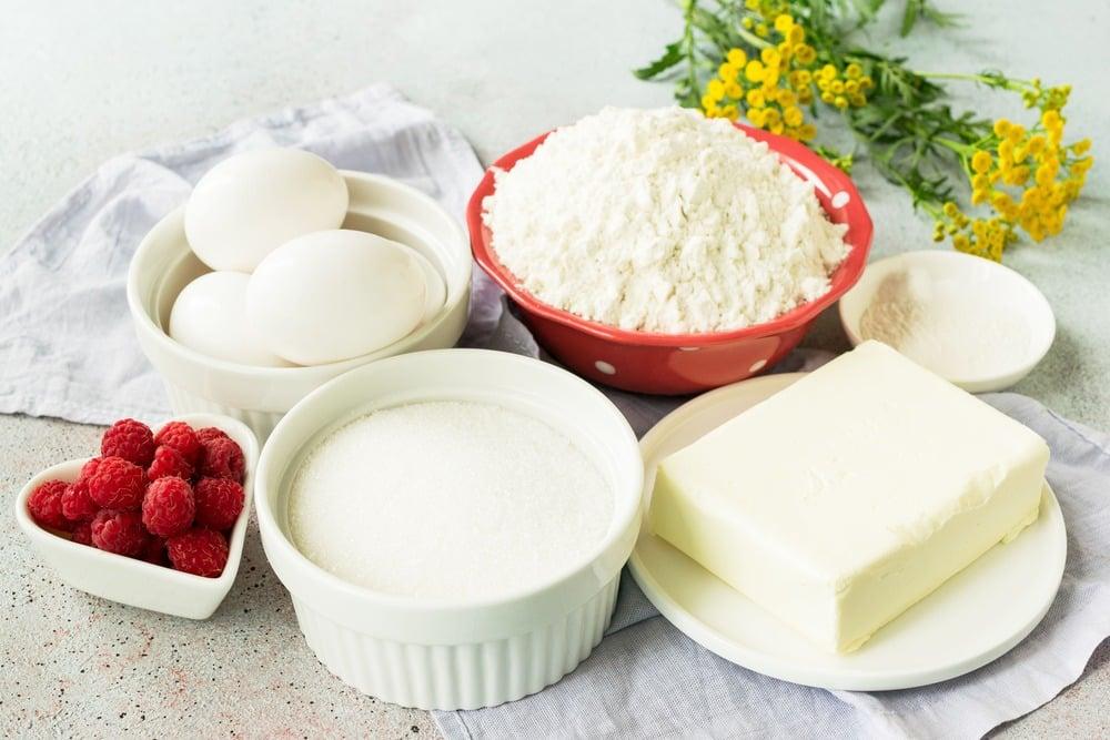 Продукты для приготовления кекса